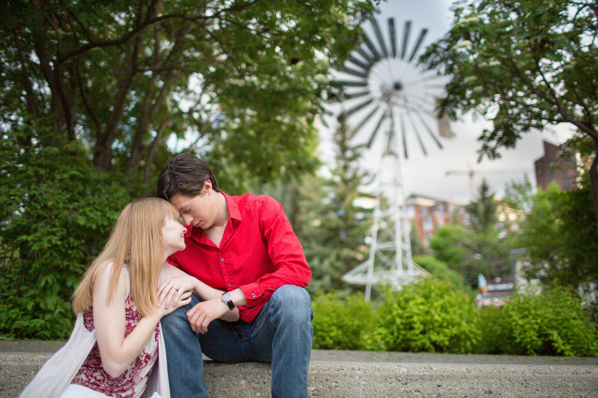 Prince's Island engagement photos by Matthew Hicks, Calgary Wedding Photographer